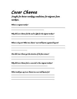 Cesar Chavez CRCT Review Worksheet