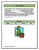 Cesar Chavez Cloze Activity