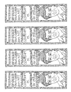 Cesar Chavez Coloring Bookmarks