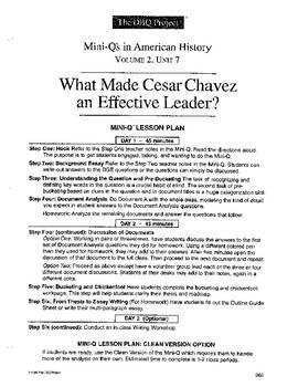Cesar Chavez: DBQ