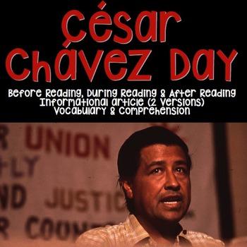 César Chávez Day Informational Article & Activities