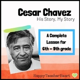 Cesar Chavez Growth Mindset Complete Lesson---Distance Learning