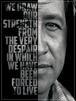 Cesar Chavez Inspirational Quote Poster