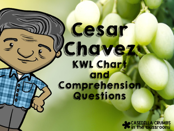 Cesar Chavez KWL Chart and Questions Common Core Aligned