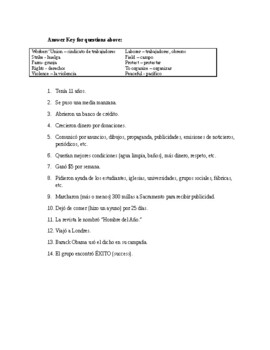Cesar Chavez MOVIE worksheets