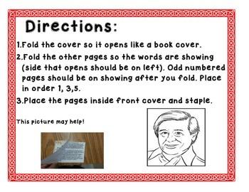 Cesar Chavez Make and Take Informational Book