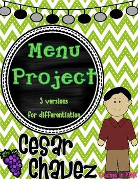 3rd grade historical figure project {Cesar Chavez}