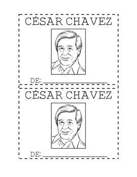 Cesar chavez mini book by assisting descubrimiento tpt for Cesar chavez coloring page