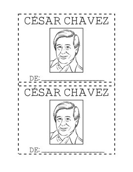 cesar chavez mini book by assisting descubrimiento tpt. Black Bedroom Furniture Sets. Home Design Ideas