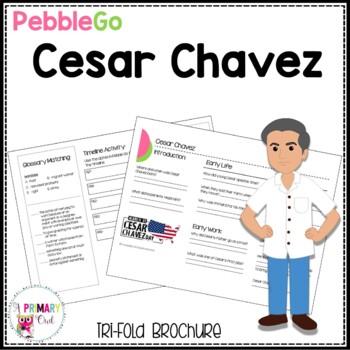 Cesar Chavez PebbleGo research brochure