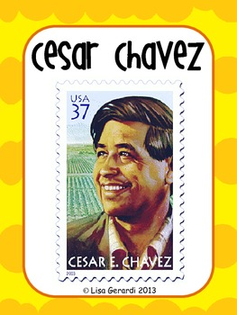 Cesar Chavez - Posters, Vocabulary, Vocabulary Organizer, Article, Questions