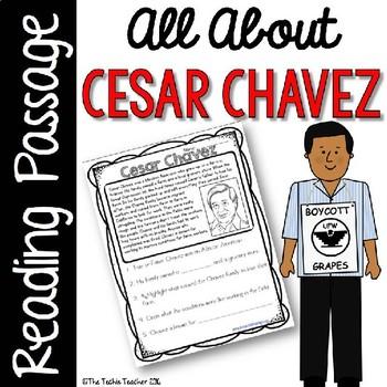 cesar chavez reading passage by the techie teacher tpt. Black Bedroom Furniture Sets. Home Design Ideas