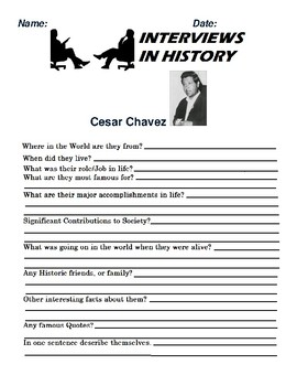 Cesar Chavez Research and interview Assignment