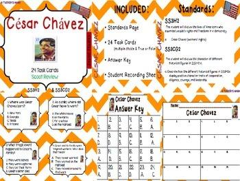 César Chávez (Task Cards)