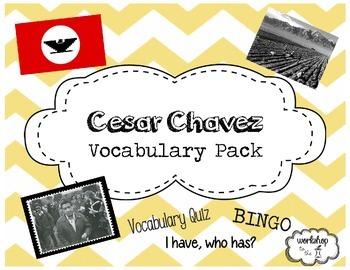 Cesar Chavez Vocabulary Pack
