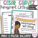Cesar Chavez Writing Sentence Starters, Paragraph Writing