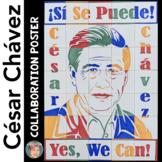 Cesar Chavez Collaborative Classroom Portrait - Fun Hispanic Heritage Activity!