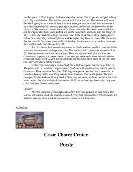 Cesar chavez centers for 1 lesson