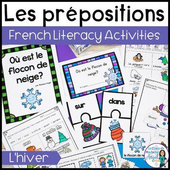 Le prépositions (hiver):   Winter Themed Preposition mini-unit in French