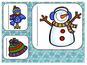 L'hiver!  Winter Themed Math Centers in French