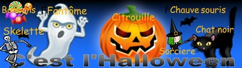 French halloween banner