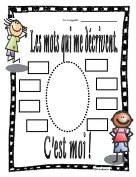 C'est Moi!--It's ME!  Students describe themselves in FRENCH!