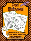 {C'est l'Halloween!} French LANGUAGE activities for French immersion or Core