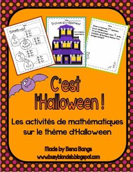 {C'est l'Halloween!} Fun MATH activities for grade 2-3 Fre
