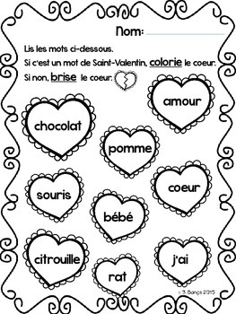 {C'est la Saint-Valentin!} A unit for grade 2 French Immersion or Core French