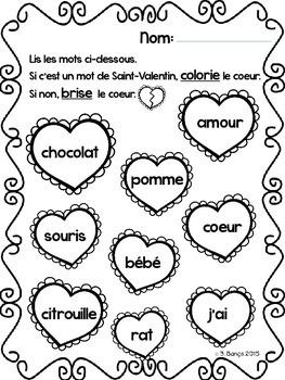 {C'est la Saint-Valentin!} A unit for grade 2 French Immersion or Core French
