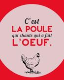 C'est la poule - French proverb poster