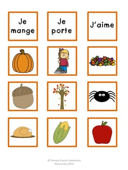 French fall / l'automne - Mini book and centres