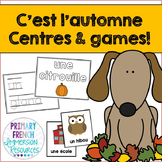 French fall / l'automne - flashcards and centres