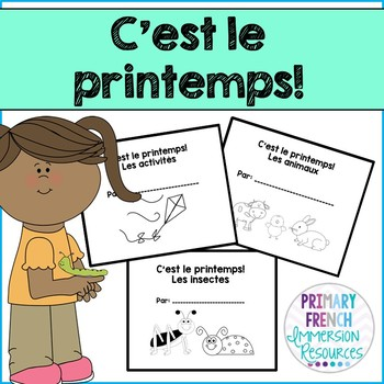 French spring / le printemps - 3 student mini books
