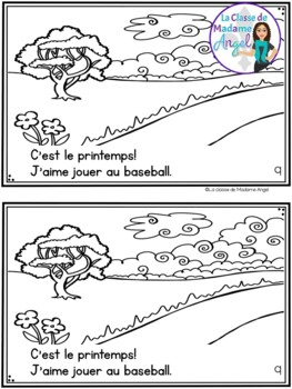 C'est le printemps! A French Emergent Reader with Spring Activities