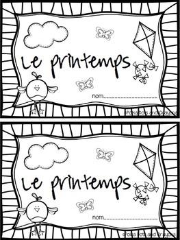C'est le printemps! French Spring Activity Booklet