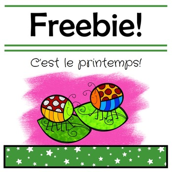 Le printemps! // French Spring Literacy and Math FREEBIE