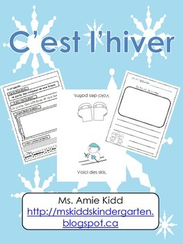 C'est l'hiver - Primary French Activities