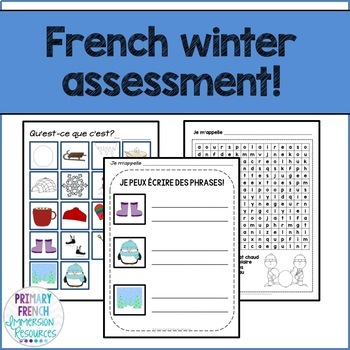 French winter / l'hiver - Reading, Writing, & Assessment