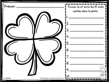 French Saint Patrick's Day Decoding Practice Worksheets