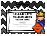 Chevron B.U.I.L.D. Math Station Rotation Signs