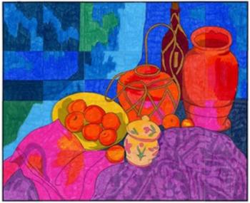 Cezanne Meets Matisse Mural