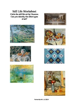 Cezanne Still Life Painting Lesson Plan