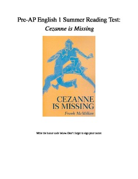Cezanne is Missing Reading Test