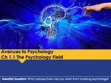 Ch 1.1 The Field of Psychology - Approaches to Psychology