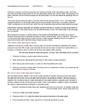 Ch 1.3 Economics - Close Reading of a Case Study Text - Common Core Worksheet