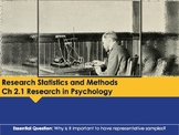 Ch 2.1 Research in Psychology - Research Statistics and Methods