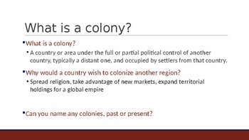 Ch. 1, Colonization PowerPoint