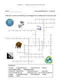 FREE Ch. 1 Environmental Science Crossword Puzzle - Science and the Environment