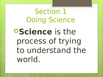 Ch 1- Nature of Science